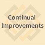 Continual Improvements